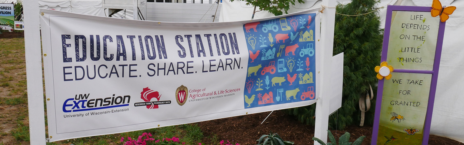 Education Station sign - a UW Extenstion program